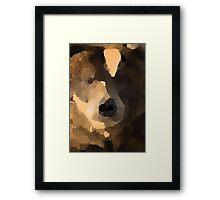 brown bear abstract Framed Print