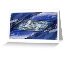 Auto Abstract - Blue Symmetry with Figures Greeting Card