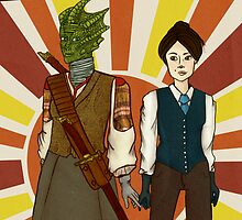 Madame Vastra & Jenny by Alexie Logan
