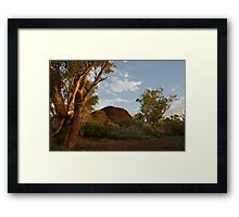 Sunset at the Creek Framed Print