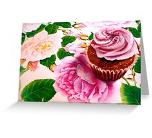 Cupcakes and Roses Greeting Card