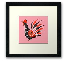 The roosters Framed Print