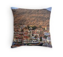 Ships in the Harbour Throw Pillow