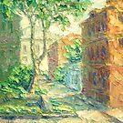 Summer In Alley. Sketch / 2011 / oil on canvas by Ivan KRUTOYAROV