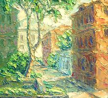 Summer In Alley. Sketch / 2011 / oil on canvas by Ivan KRUTOYAROV