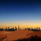 Dubai Skyline and desert by Adam Adami