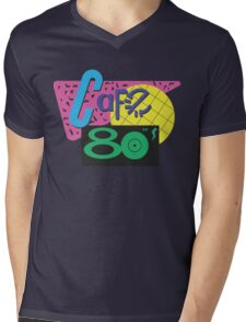 Back To The Cafe 80's Mens V-Neck T-Shirt