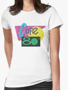 Back To The Cafe 80's Womens Fitted T-Shirt