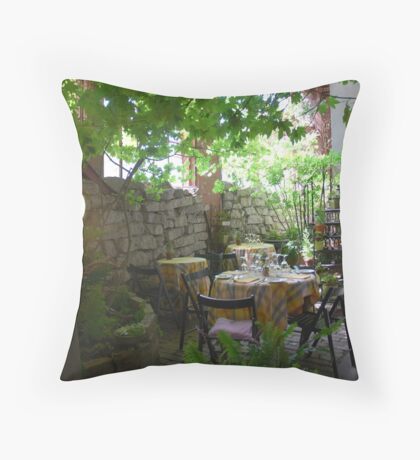"""Private dining at """"The Ruins"""" Throw Pillow"""