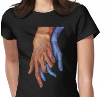 Mega Hands Womens Fitted T-Shirt