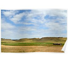 """WYOMING SOD HOUSE """"PANORAMA"""" Poster"""