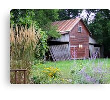 Old Shed on a Minnesota Farmstead Canvas Print