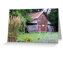 Old Shed on a Minnesota Farmstead Greeting Card
