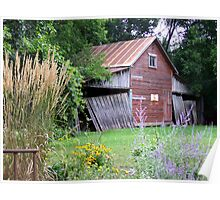 Old Shed on a Minnesota Farmstead Poster