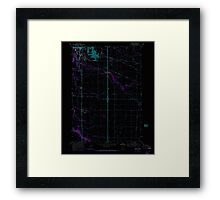 USGS Topo Map Oregon Tangent 281752 1969 24000 Inverted Framed Print