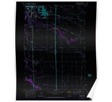 USGS Topo Map Oregon Tangent 281752 1969 24000 Inverted Poster