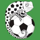 Soccer  Chameleon  by Vectorland