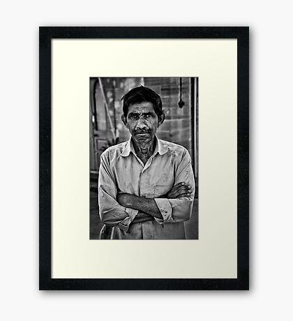 A familiar Stranger Framed Print