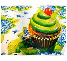 Cupcakes and Violets Poster