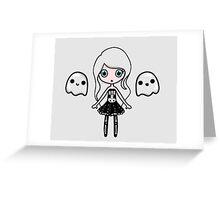 Skeletal Chibi Greeting Card