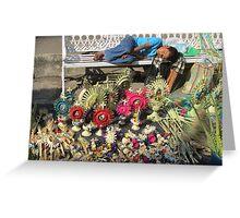 The sleep - little boy sleeping on the Easter market - El sueño Greeting Card
