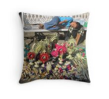 The sleep - little boy sleeping on the Easter market - El sueño Throw Pillow