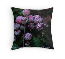 blueberries...cardamom...and time. Throw Pillow