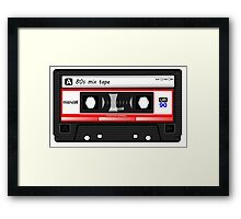 80s Mix Tape iPhone 6 Case Framed Print