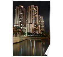 Apartemen Taman Rasuna (by night) Poster