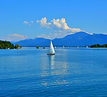 Lake Chiemsee Germany by Daidalos