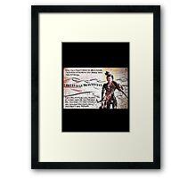 Dune - Paul Atreides must not fear, fear is the mind-killer Framed Print