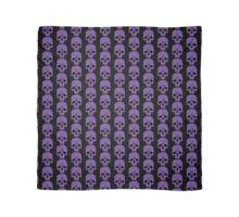 Purple Ouija Skull on Black Background Scarf