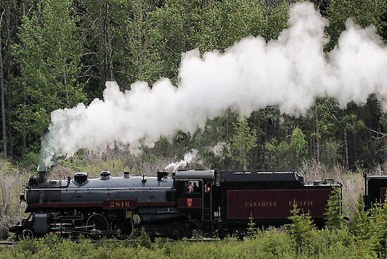 Whoo Hooo ---- #2816 Steam  Engine To Canmore by Leslie van de Ligt