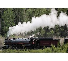 Whoo Hooo ---- #2816 Steam  Engine To Canmore Photographic Print