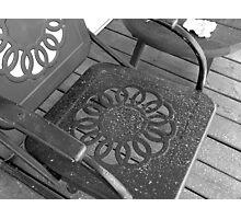Snow Dusted Chair Photographic Print
