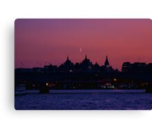 Moon over London Canvas Print