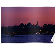 Moon over London Poster