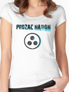 PROZAC NATION Women's Fitted Scoop T-Shirt