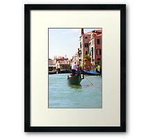 Sightseeing By Gondola  Framed Print