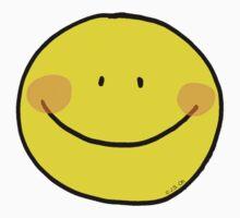 Yellow big sunny smile Kids Tee