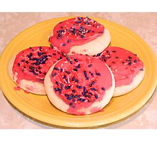 Raspberry Sugar Cookies Photographic Print