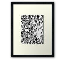 Gray Scale Abstract Framed Print