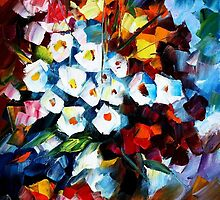 FLOWERS OF LOVE - LEONID AFREMOV by Leonid  Afremov