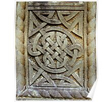 Celtic Knotwork in Stone Poster