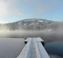 Winter on Twin Lakes Idaho by BreezyG