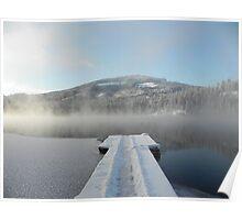 Winter on Twin Lakes Idaho Poster