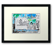I love Melbourne Framed Print