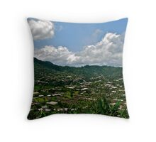Limbe View from Above Throw Pillow
