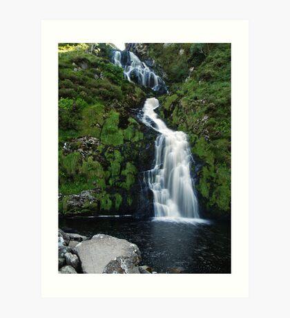 The Assarnacally Waterfall Art Print