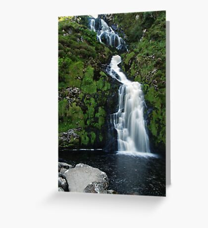 The Assarnacally Waterfall Greeting Card